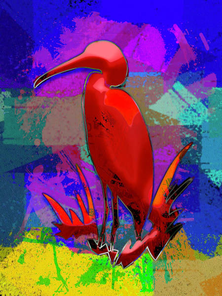 Digital Art - Everglades Egret by Carlos Diaz