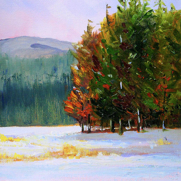 Wall Art - Painting - Evergreen Forest by Nancy Merkle