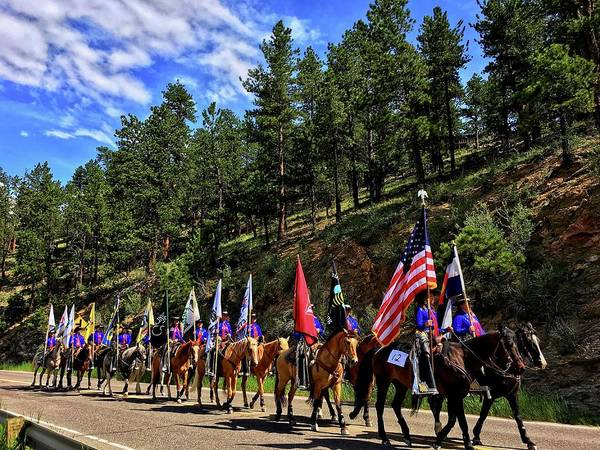 Photograph - Evergreen Rodeo Parade by Dan Miller