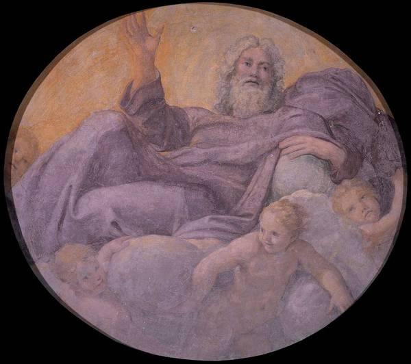 Wall Art - Painting - Everlasting Father  by Annibale Carracci