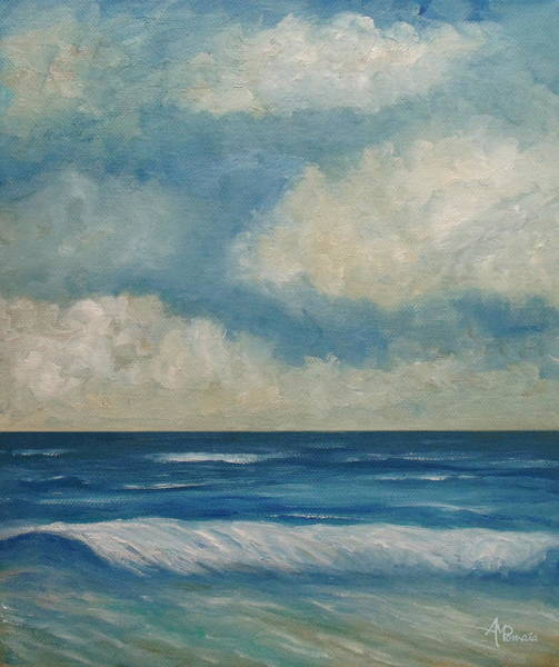 Painting - Every Breaking Wave by Angeles M Pomata