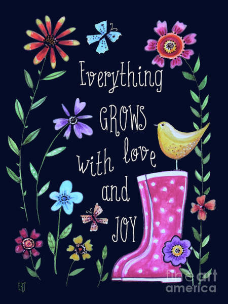 Painting - Everything Grows With Love And Joy by Elizabeth Robinette Tyndall