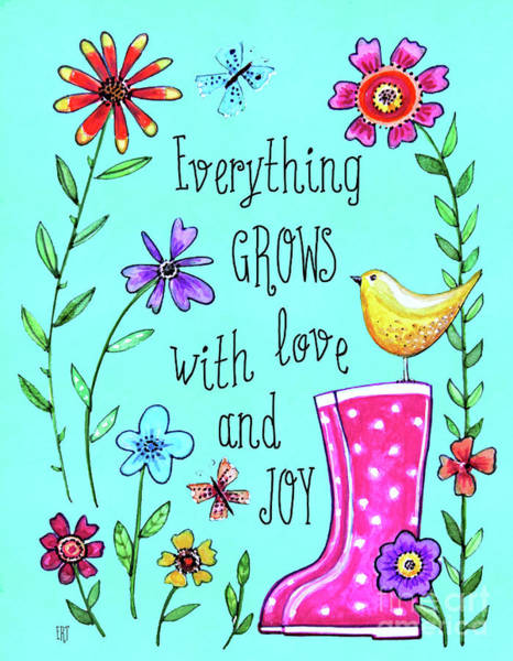 Painting - Everything Grows With Love by Elizabeth Robinette Tyndall