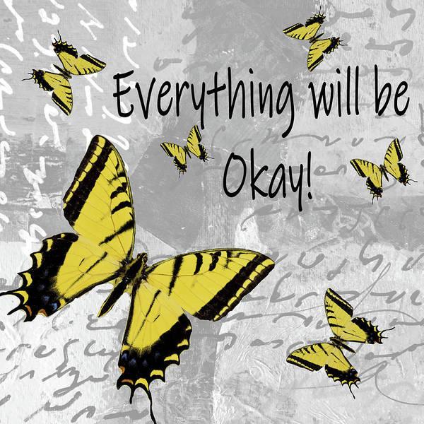 Relief Digital Art - Everything Will Be Ok by Nancy Merkle