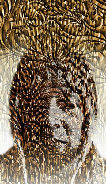 Shaman Digital Art - E.v.e.r.y.w.h.e.r.e by J  - O   N    E