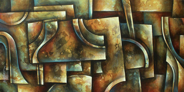 Wall Art - Painting -  Evolution Of Space 2 by Michael Lang