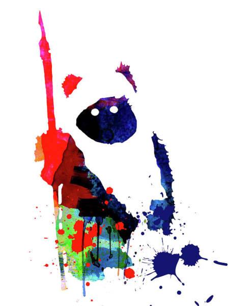 Movie Poster Mixed Media - Ewok Cartoon Watercolor by Naxart Studio