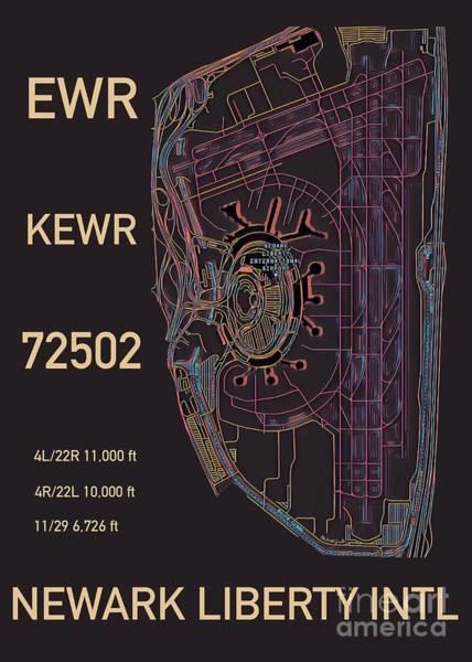 Digital Art - Ewr Newark Liberty Intl by Helge