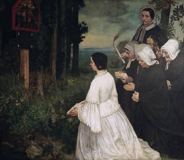 Wall Art - Painting - Ex-voto, 1860 by Alphonse Legros