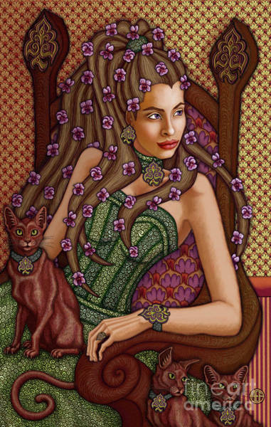 Painting - Exalted Beauty Lorelei by Amy E Fraser