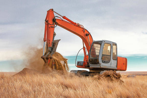 Wall Art - Photograph - Excavator Working by Todd Klassy