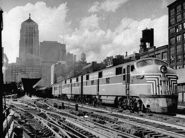 Photograph - Excellent Of A New York Central Passenge by Andreas Feininger