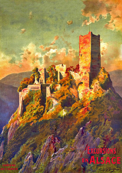 Alsace Wall Art - Digital Art - Excursions To Alsace by Long Shot