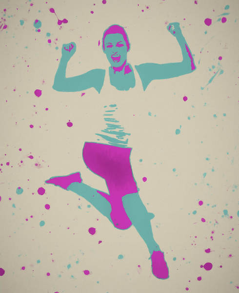 Painting - Exercising Woman Pop Art by Dan Sproul