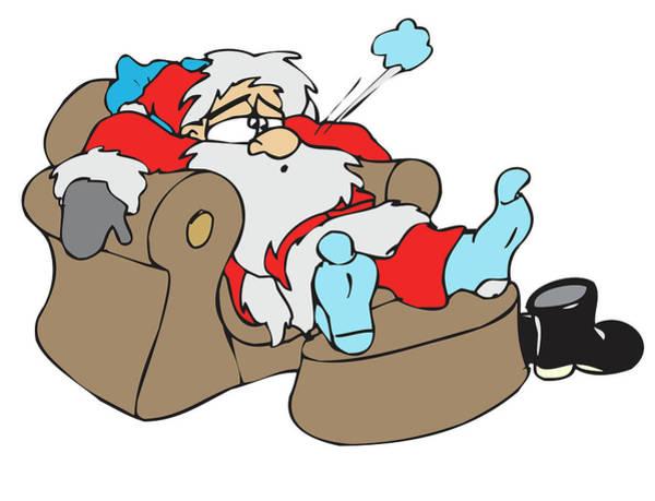 Exhaust Digital Art - Exhausted Santa by Long Shot
