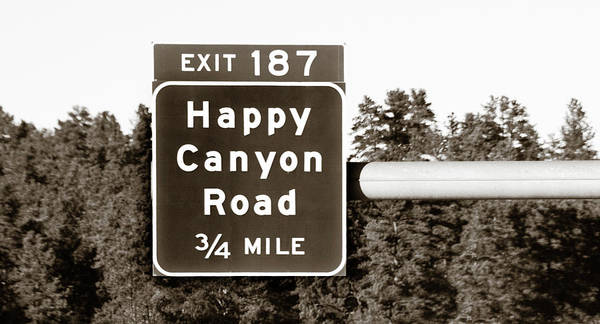 Photograph - Exit For Happy Canyon Road by Marilyn Hunt