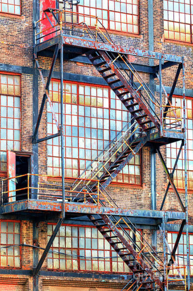 Photograph - Exit Through The Red Door At Bethlehem Steel by John Rizzuto