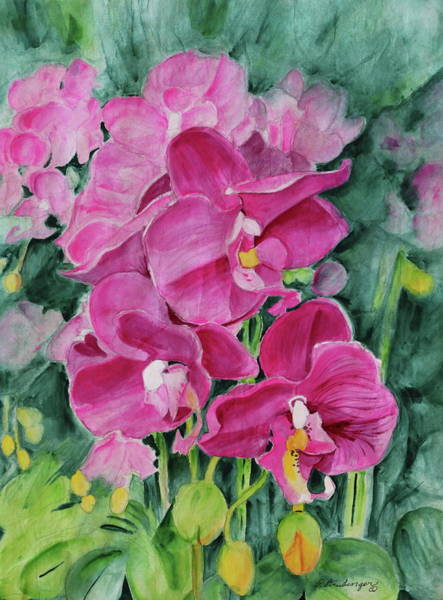 Wall Art - Painting - Exotic Orchid by Patty Strubinger