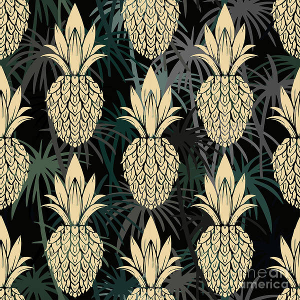 Wall Art - Digital Art - Exotic Seamless Pattern With by Nataleana