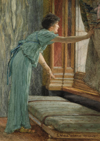 Painting - Expectation by Lawrence Alma-Tadema
