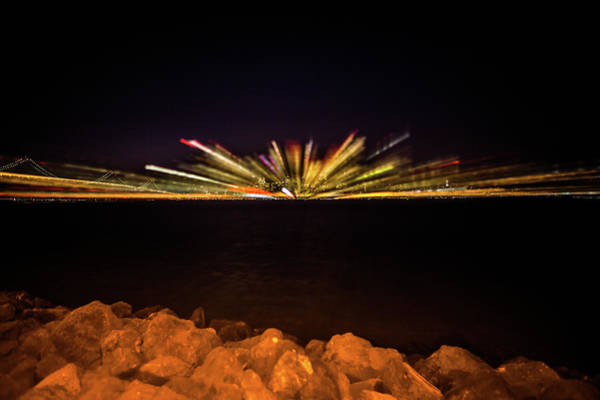 Wall Art - Photograph - Experimental Abstract Light Trails Made From Treasure Island Of by Kim Vermaat