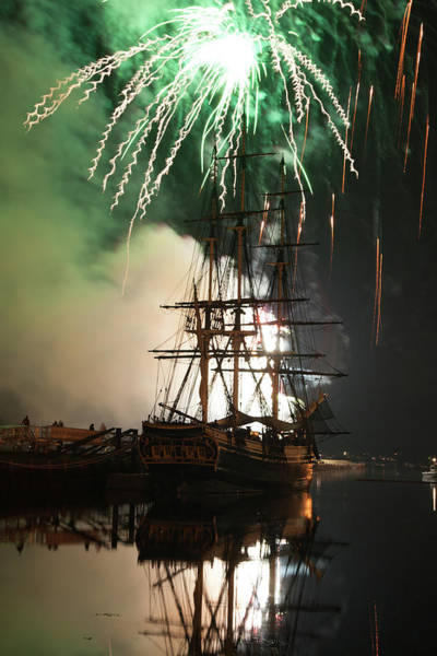 Photograph - Exploding Fireworks Over Salem's Friendship by Jeff Folger