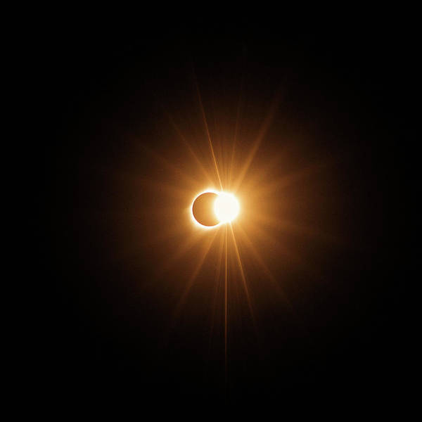 Totality Photograph - Exploding Ring Of Fire by Mike Berenson