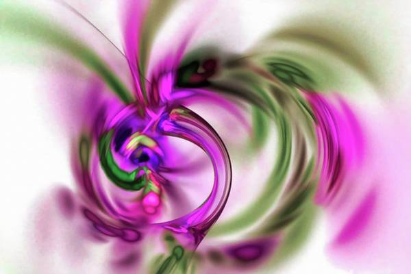 Digital Art - Exploding Tube Abstract Pink by Don Northup