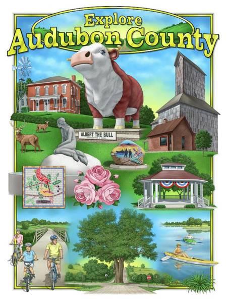 Digital Art - Explore Audubon County by Scott Ross