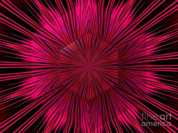 Digital Art - Explosion Of A Star Fractal Abstract by Rose Santuci-Sofranko