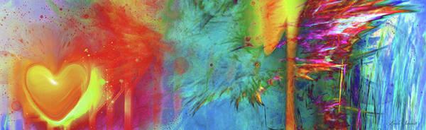 Wall Art - Digital Art - Explosive Heart by Linda Sannuti