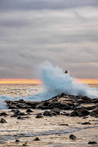 Photograph - Explosive Sea 2 by Jeff Sinon
