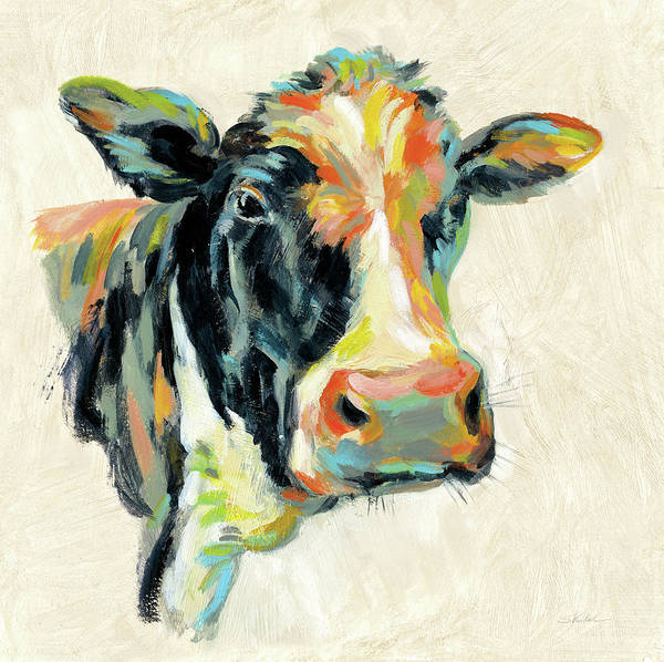 Wall Art - Painting - Expressionistic Cow I by Silvia Vassileva