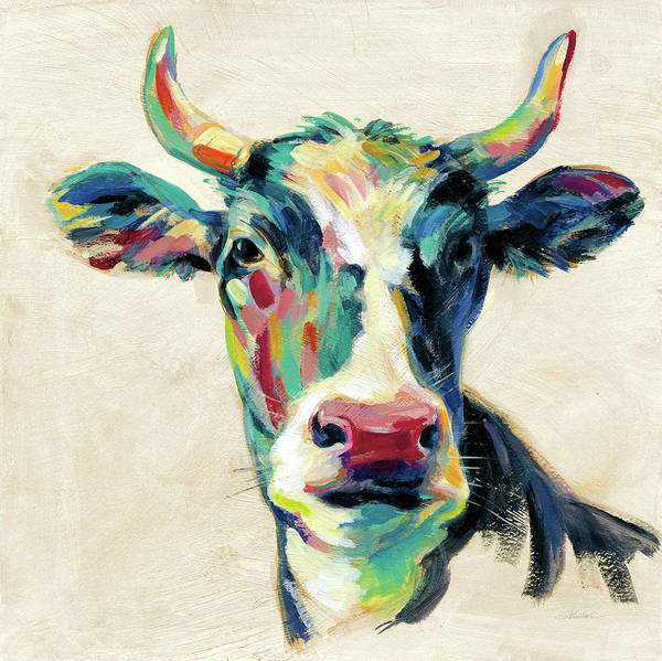 Wall Art - Painting - Expressionistic Cow II by Silvia Vassileva