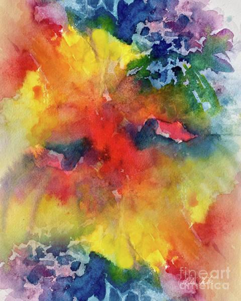Wall Art - Painting - Expressive Flower by Allison Ashton