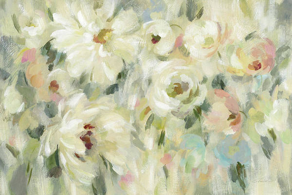 Wall Art - Painting - Expressive Pale Floral by Silvia Vassileva