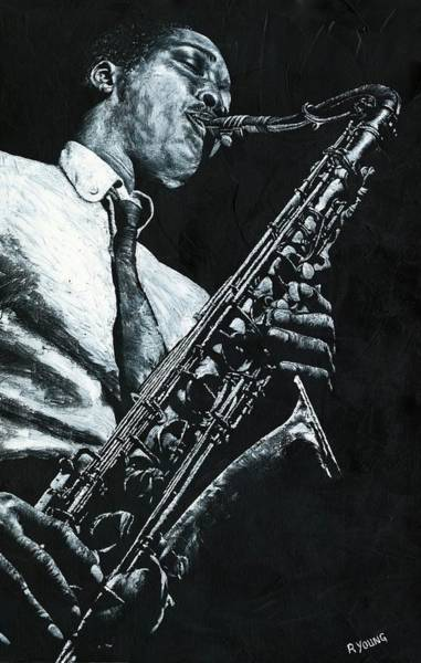 Bop Wall Art - Painting - Expressive Sax by Richard Young