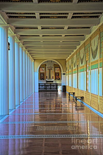 Wall Art - Photograph - Exquisite Architecture J Paul Getty Villa by Chuck Kuhn