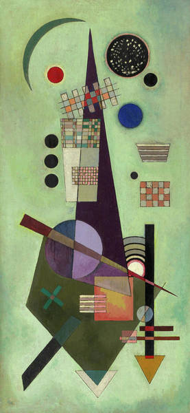 Visual Illusion Wall Art - Painting - Extended - Ausgedehnt by Wassily Kandinsky