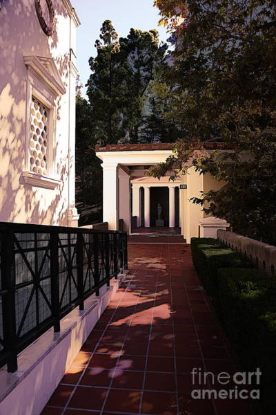 Wall Art - Photograph - Exterior Amazing Getty Villa  by Chuck Kuhn