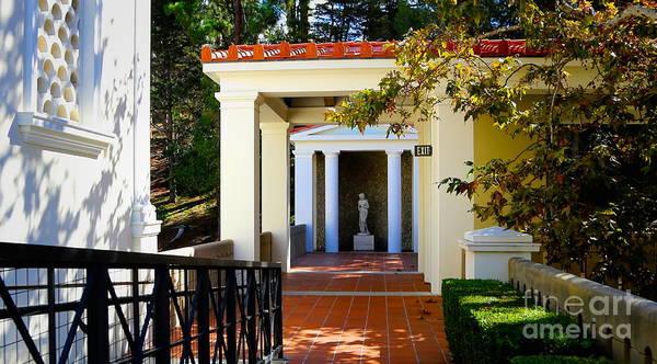 Wall Art - Photograph - Exterior Courtyard Getty Villa I  by Chuck Kuhn