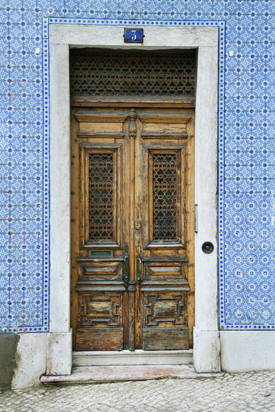 Wood Carving Photograph - Exterior Doors And Tiled Building In by - Fotosearch