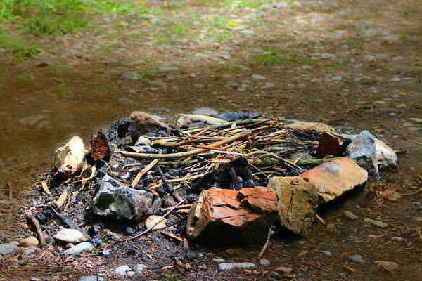 Photograph - Extinguished Campfire Utah Mountain Camp Site by Colleen Cornelius
