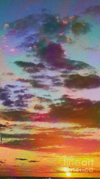 Digital Art - Sunset Beauty by Karen Nicholson
