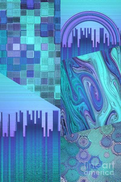 Digital Art - Extracts Of Blue And Purple  by Rachel Hannah