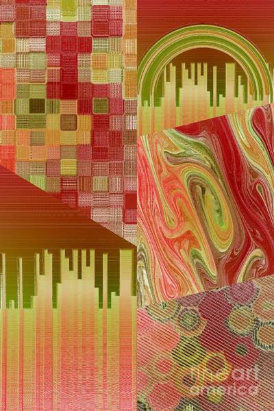 Digital Art - Extracts Of Orange And Green by Rachel Hannah