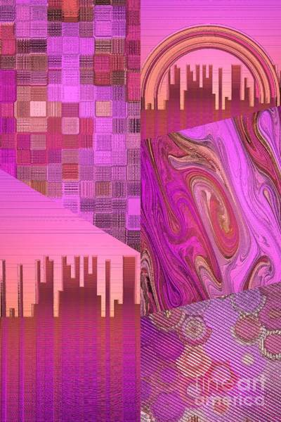 Digital Art - Extracts Of Pink And Orange  by Rachel Hannah
