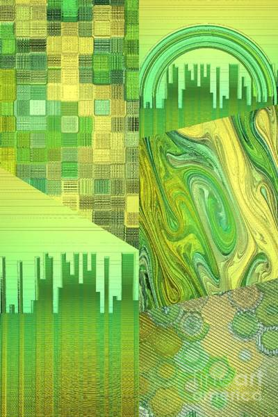 Digital Art - Extracts Of Yellow And Green by Rachel Hannah