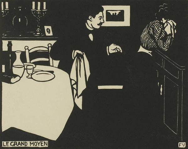 Wall Art - Relief - Extreme Measure, Plate Six From Intimacies by Felix Edouard Vallotton