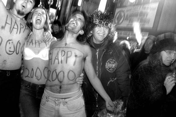 Connection Photograph - Exuberant Celebrants At Times Square by New York Daily News Archive